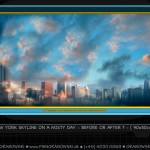B - NR.587 - NEW YORK SKYLINE ON A MISTY DAY - 90x50 -144dpi